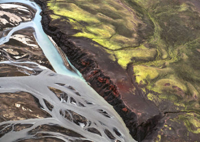 Black sands and riverbeds
